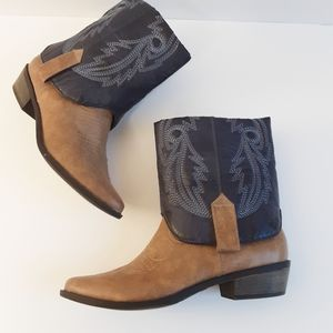 Coconuts Fold Over Western Boots Size 6